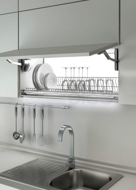 Кухонный шкаф с подсветкой