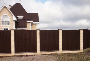 Забор из профнастила для Частного Дома: 135+ (Фото) Красивых ограждений своими руками