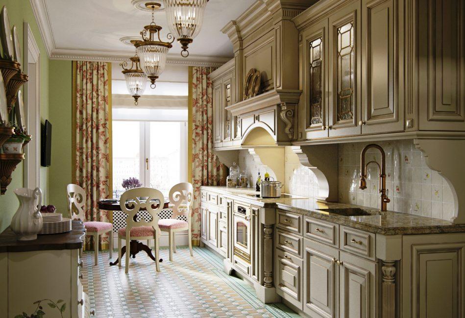 Четкие и плавные формы кухонного гарнитура