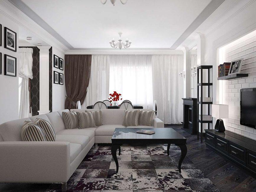 Светлые цвета визуально расширят комнату