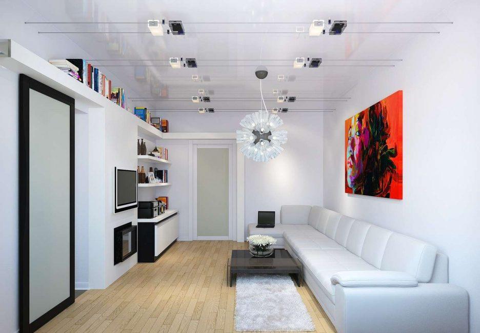 Мебельный гарнитур светлого цвета