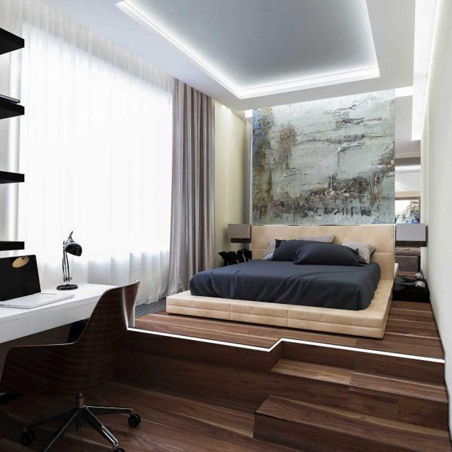 Добавляем освещенности спальному месту