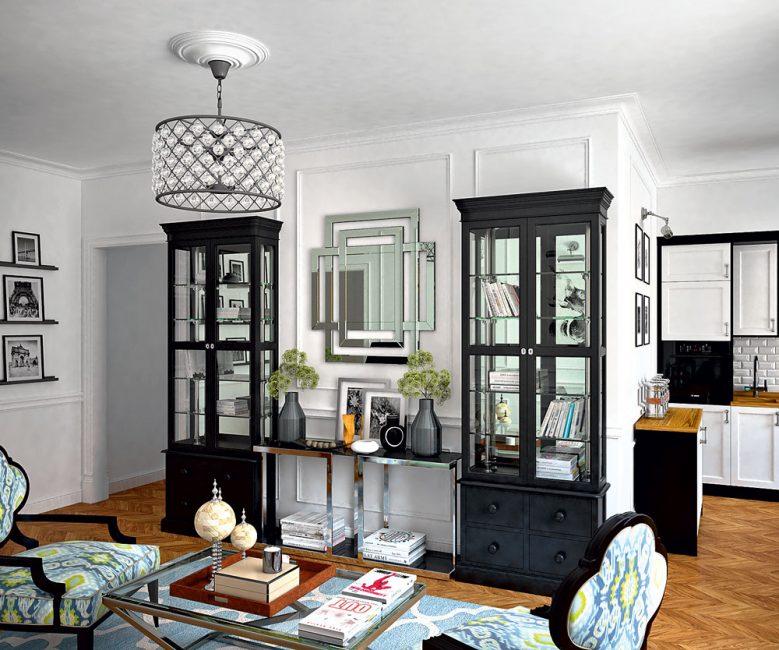 Практичный шкаф служит украшением комнаты
