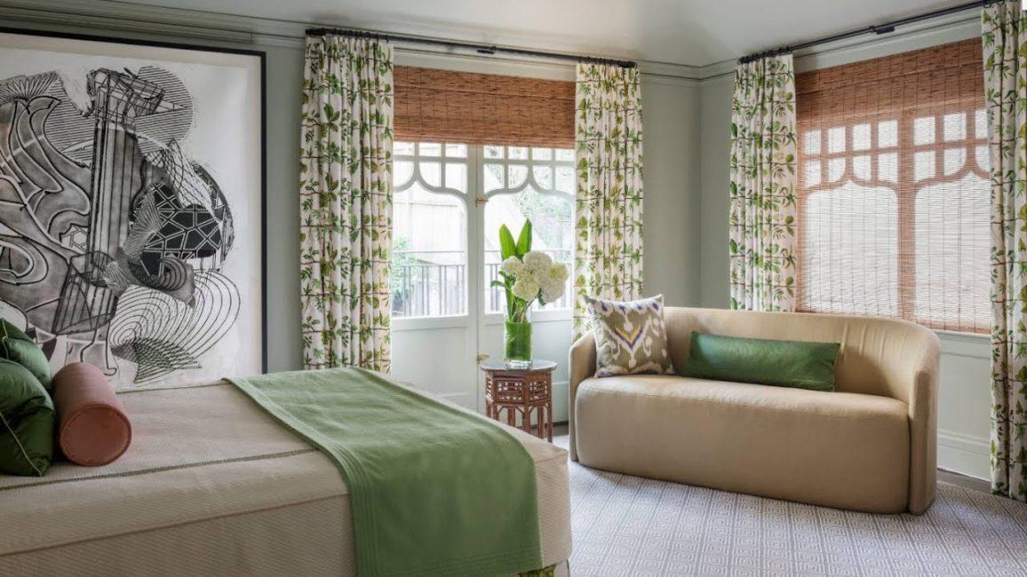 Украшайте спальню натуральными или смешанными материалами