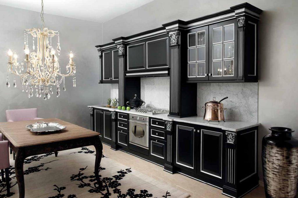 Новый тренд в кухонном мире - Черные кухни в интерьере (220+ Фото сочетаний в дизайне)