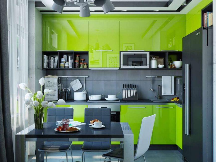 Черные кухни в интерьере - Новый тренд в кухонном мире (220+ Фото сочетаний в дизайне)