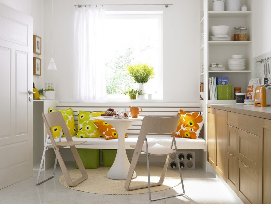 Сочетание цвета с мебелью