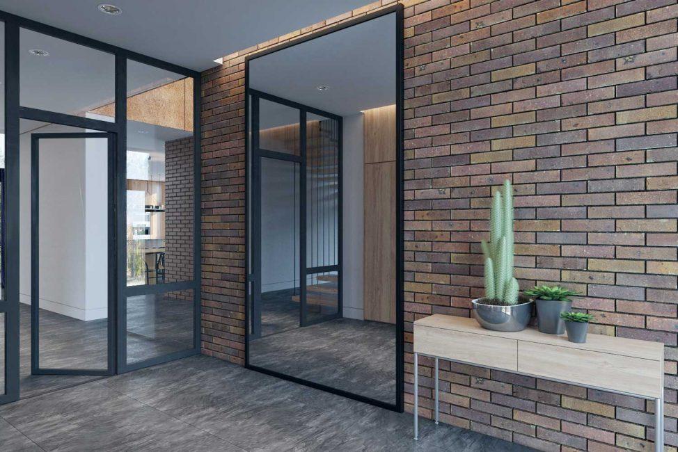 Такие двери могут быть из различных материалов