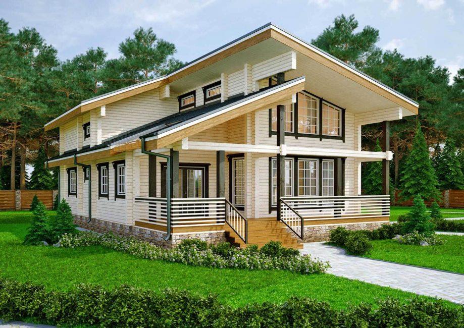 Популярные варианты домов из клееного бруса