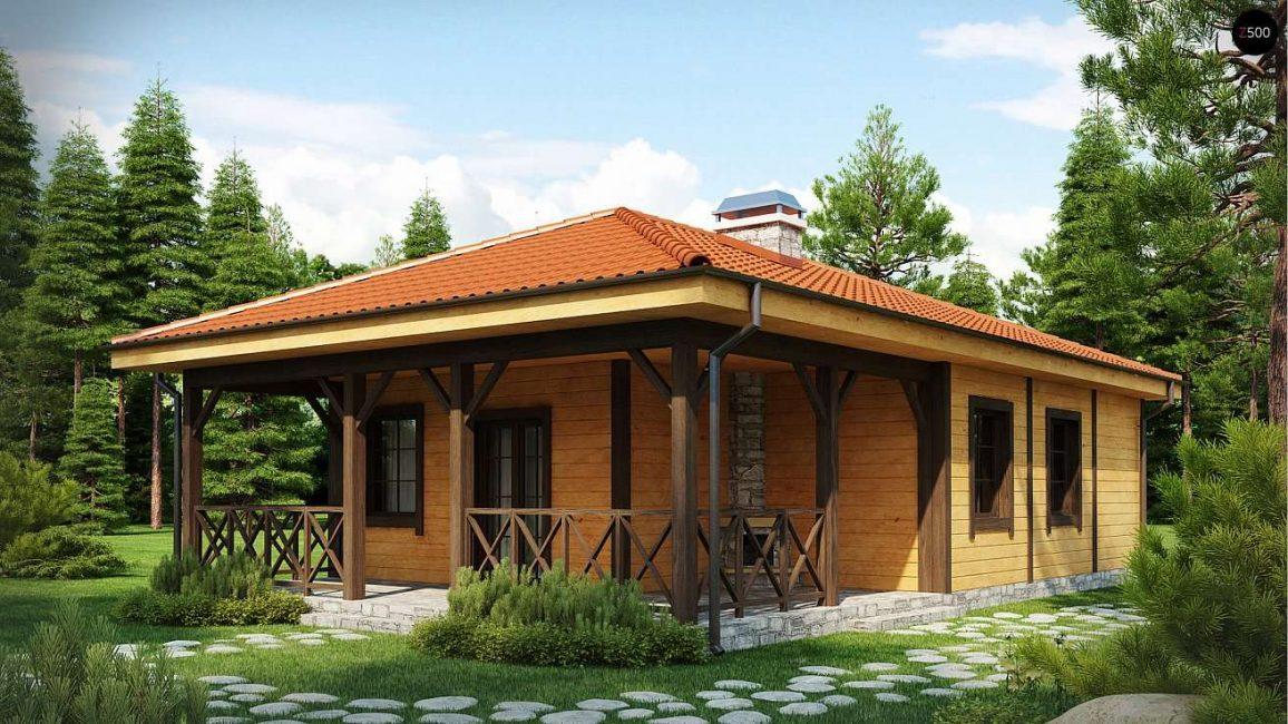 Классические варианты финских домов не имеют второго этажа