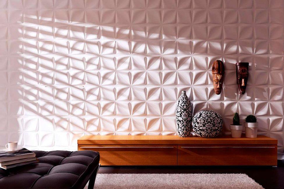 3d панели на стене