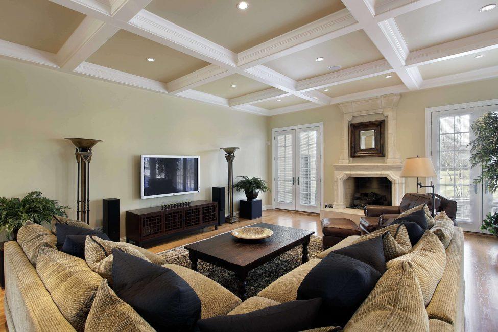 Дизайн гипсового потолка