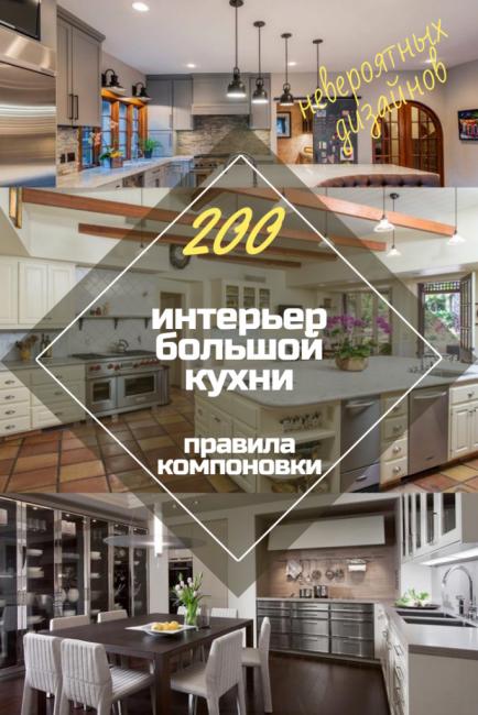 Интерьер большой кухни 2