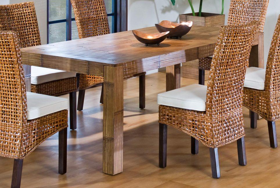 Красивая и прочная мебель из ротанга