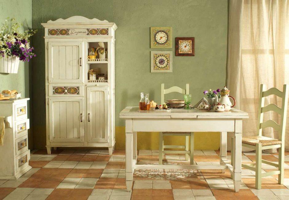 В закрытой кухни очень важен выбранный стиль
