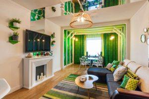 Салатовый цвет в современных модных интерьерах: 185+ (Фото) Сочетаний дизайна для Кухни, Гостиной, Спальни