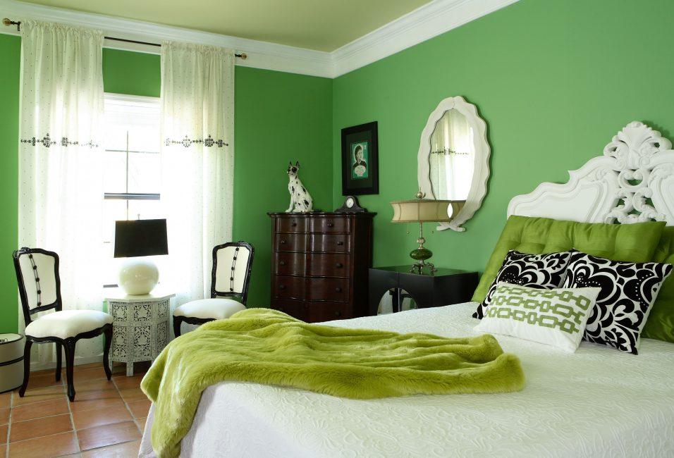 Зеленая спальня, с точки зрения психологии, хороший вариант