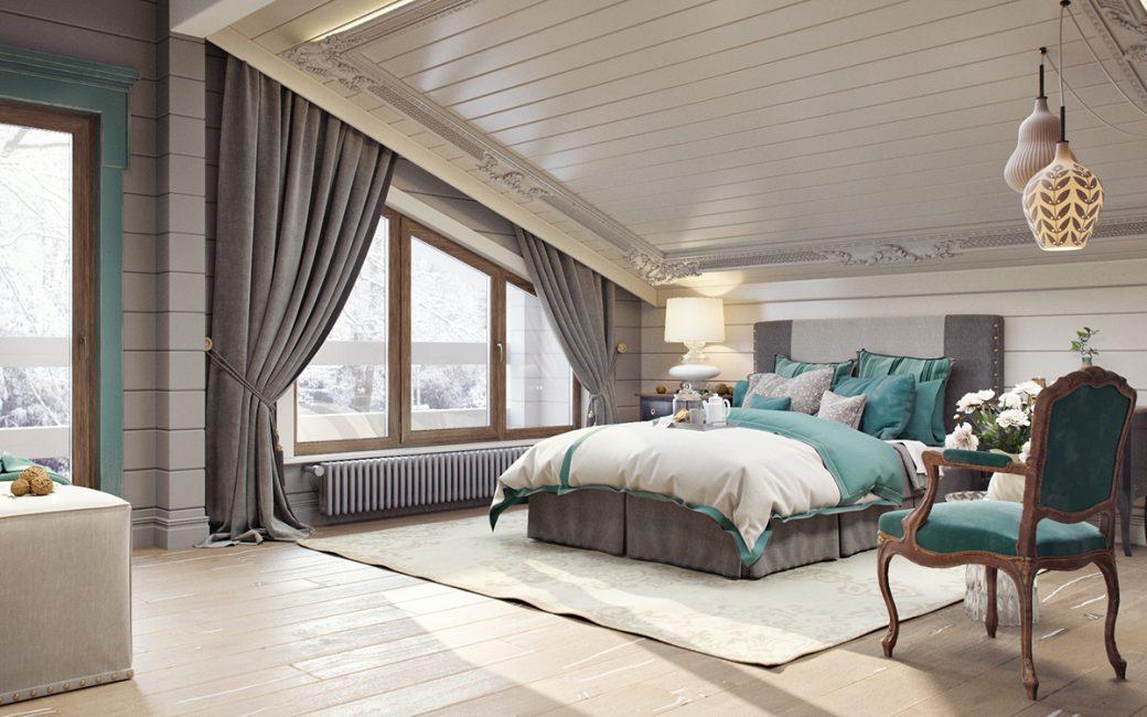 Белый потолок сделает комнату светлей