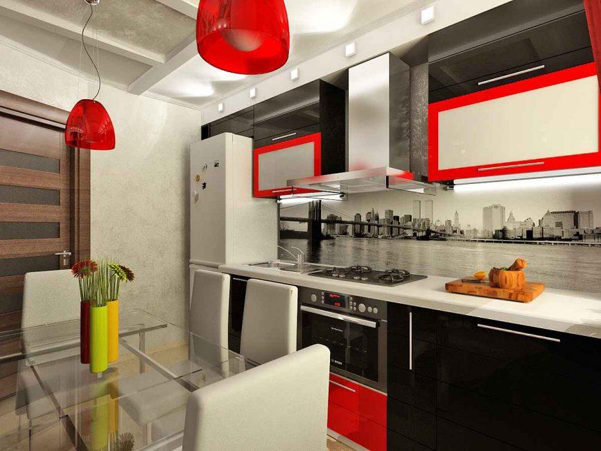 Яркий акцент кухонного гарнитура