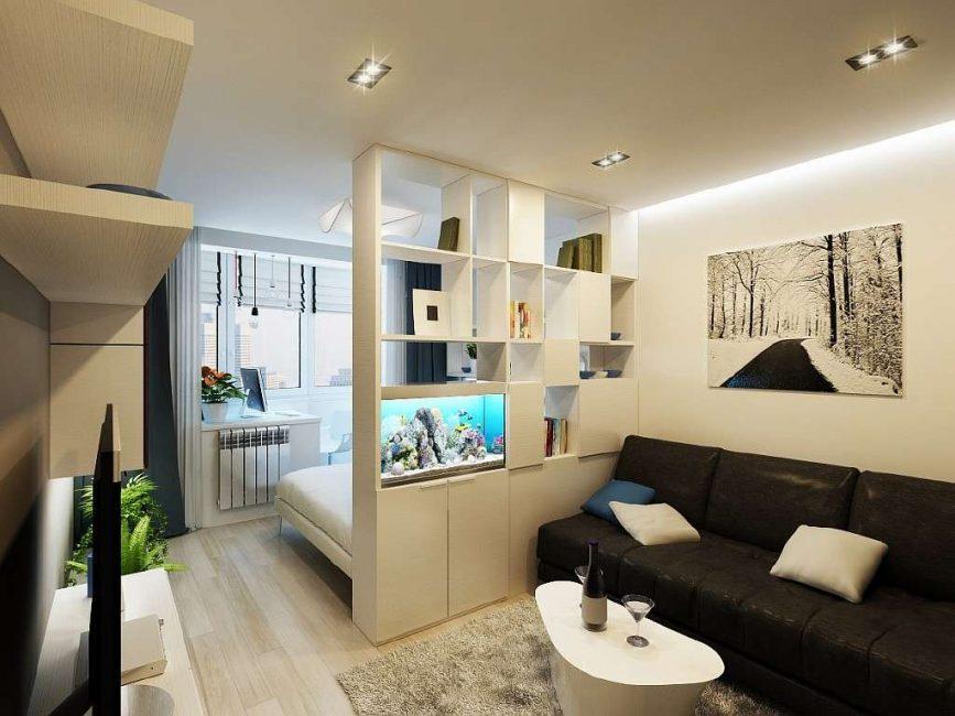 Небольшой вариант для гостиной комнаты