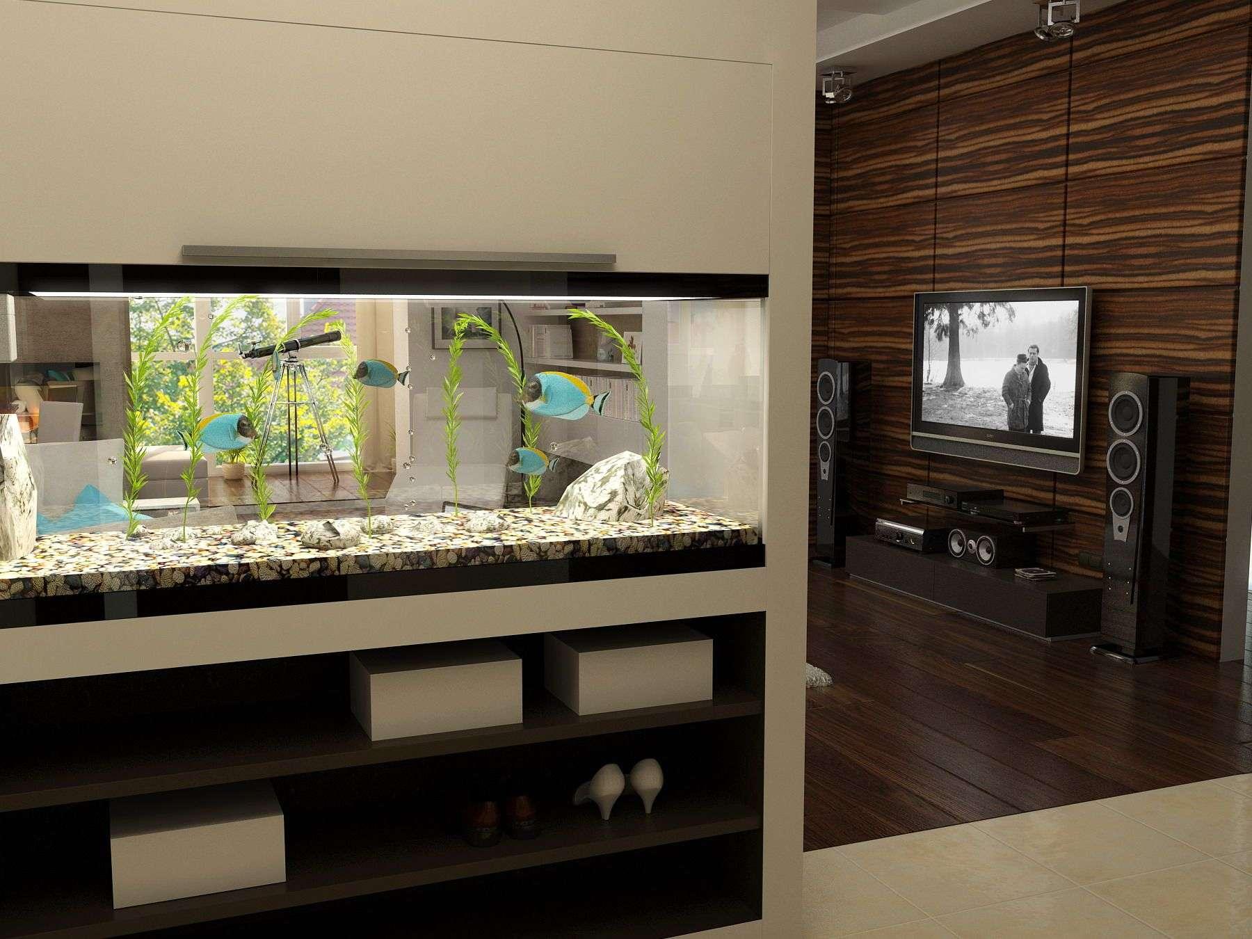аквариум в однокомнатной квартире фото его описание фото
