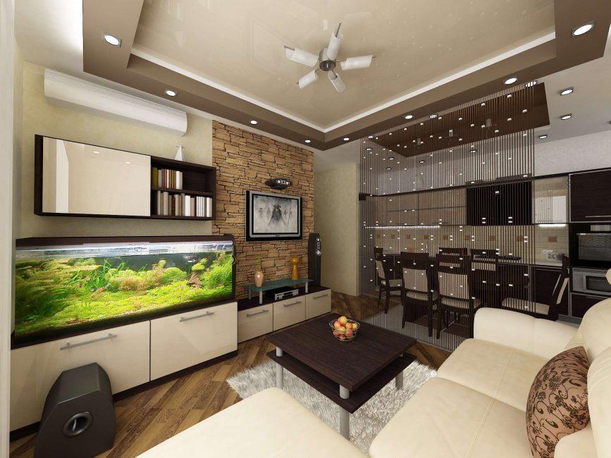 Аквариум в гостиной - выбираем удобное место