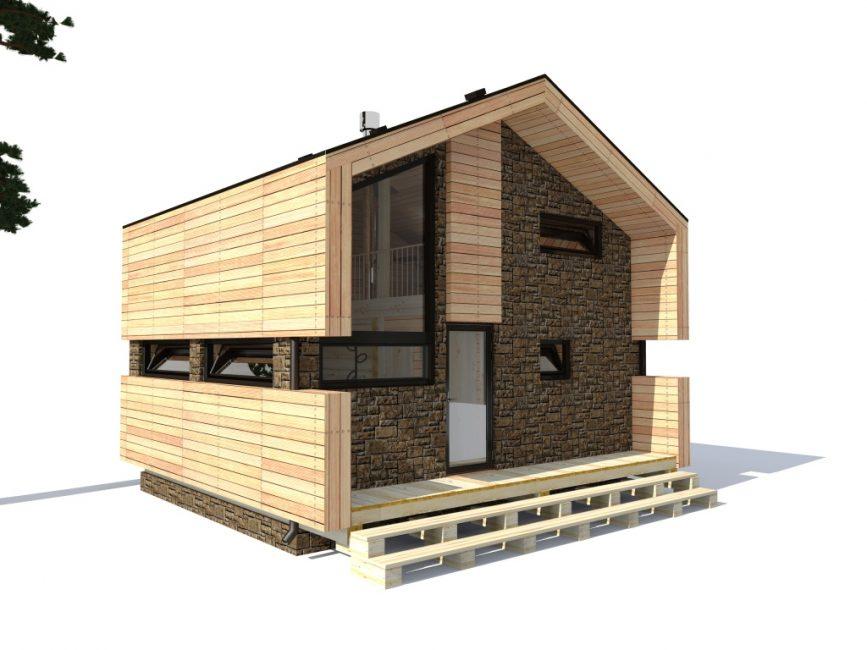 Готовые проекты предлагают удобное зонирование площади строения