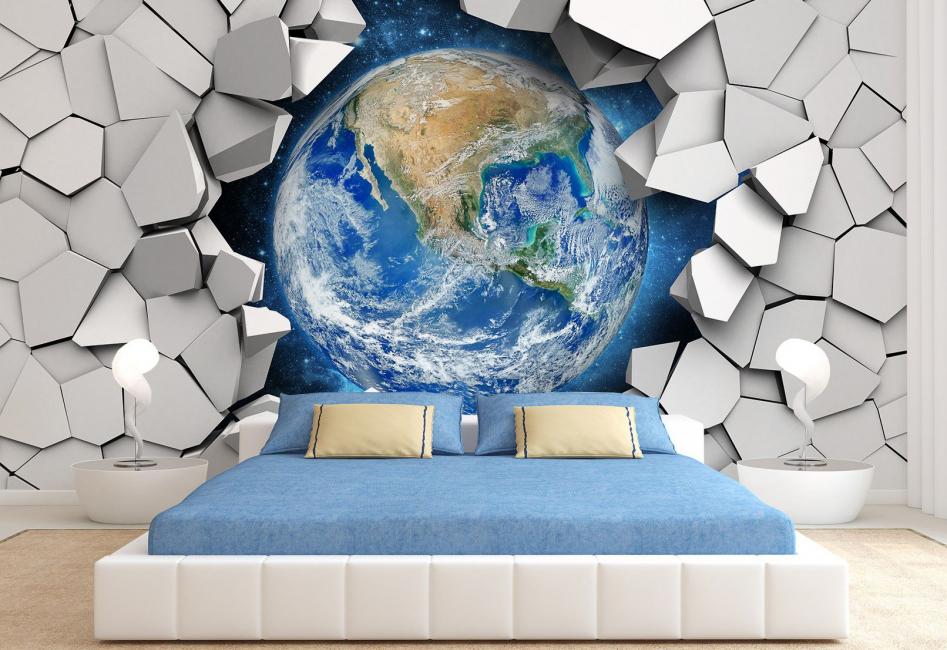 В 3D формате в спальне