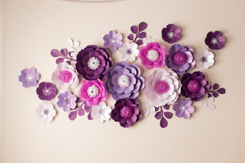 Бумажные цветы - идеальный декор