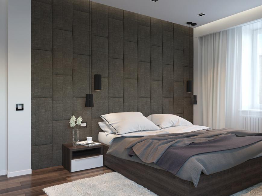Мягкая стена актуальная, когда в кровати нет изголовья