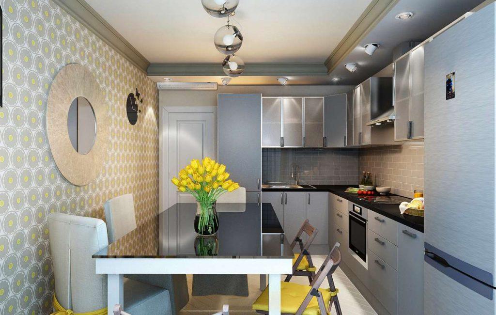 Дизайн маленькой кухни в лофт стиле