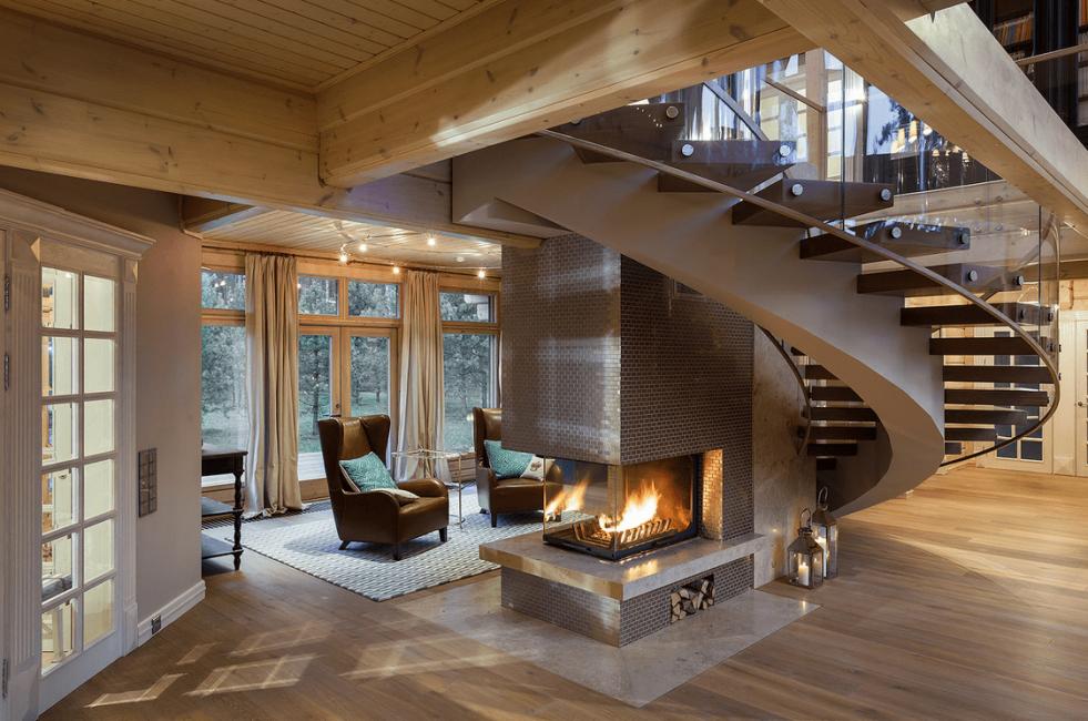 Красивый дизайн загородного дома