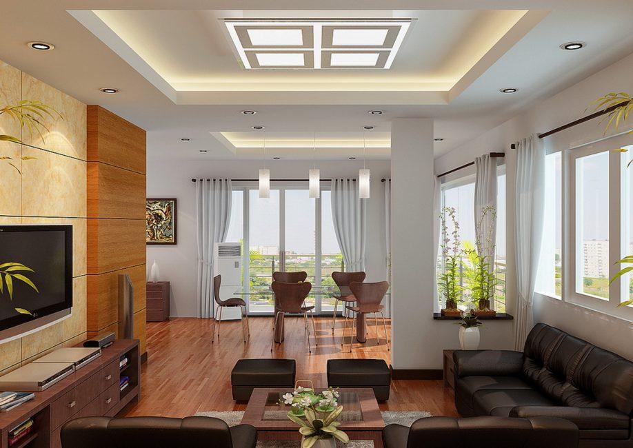 Квадратные светильники для нердинарных стилей