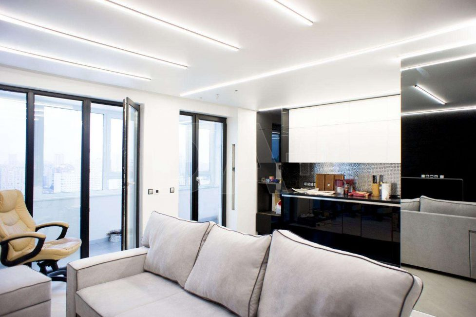 Варианты светильников в одной комнате