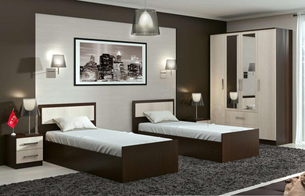 Стильная и красивая спальня