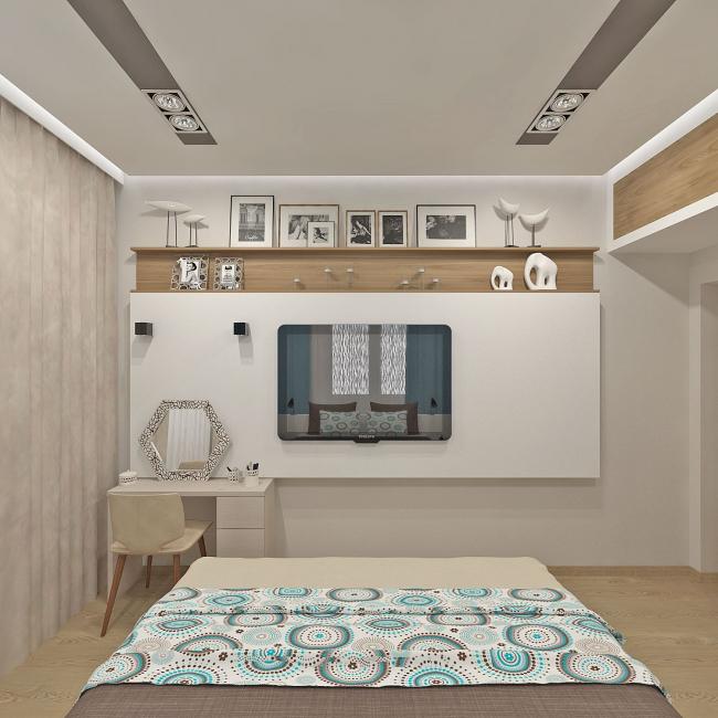 В интерьере современной спальни