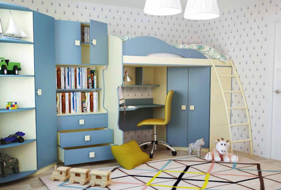 Организация под потолком спального места для ребенка