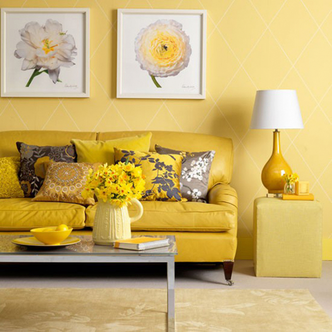 В желтом цвете