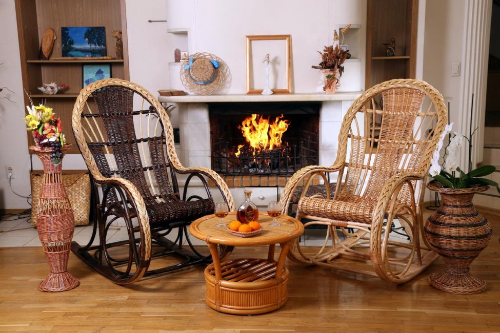 Плетенная мебель, ручной работы