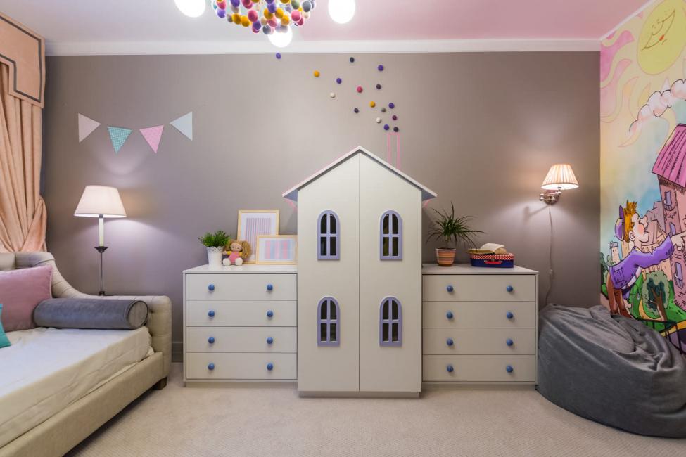 Интерьер комнаты для маленькой принцессы