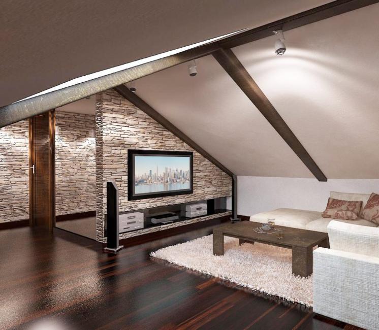 Стильная гостиная комната
