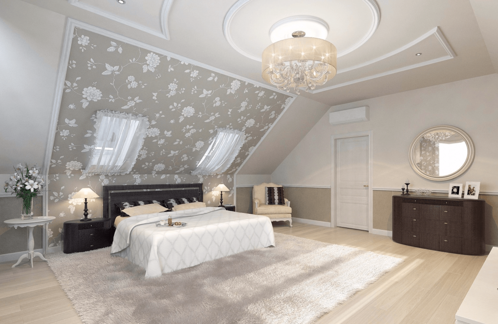 Вариант оформления для спальни