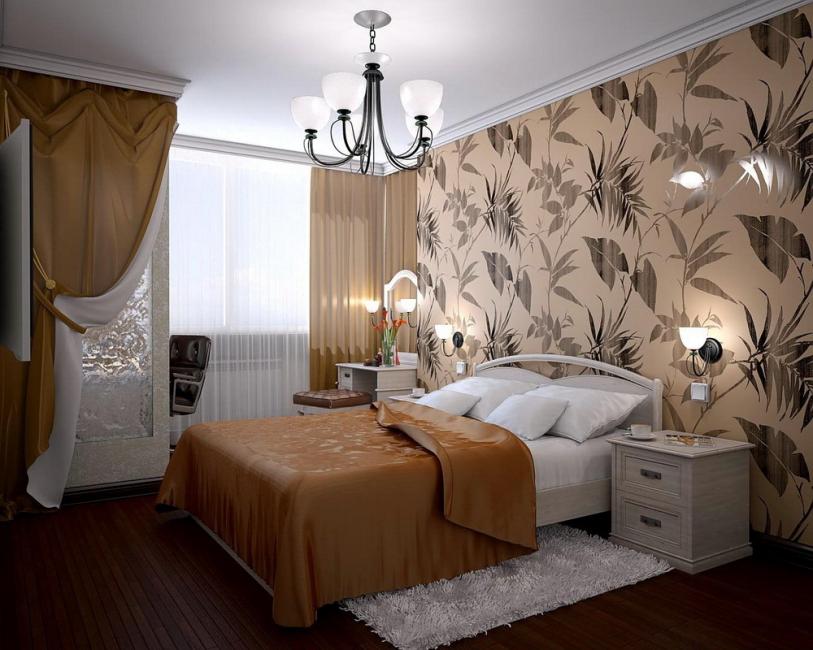 Стильное оформление для спальни