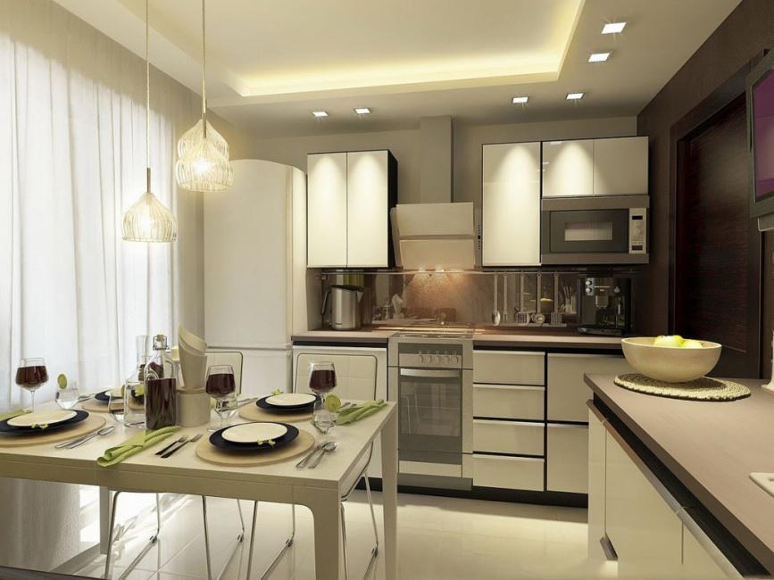 Правильное освещение кухни требует творческого подхода
