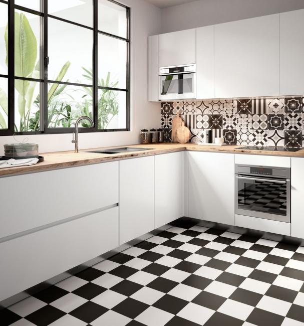 Черно-белые цвета для комнаты