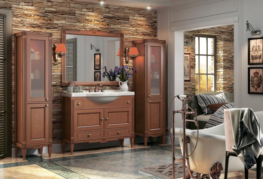 Красивая ванная комната в классическом стиле