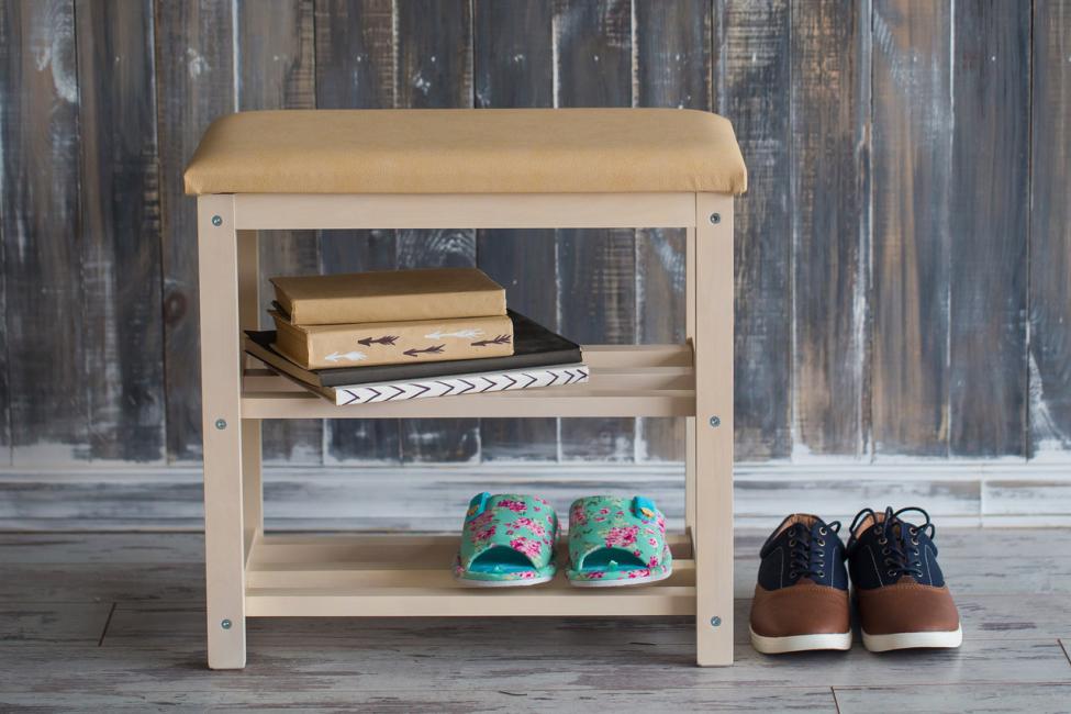 Банкетка под обувь - маленькая и практичная