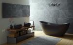 Тренды в интерьере черной ванной комнаты - 250+ (Фото) модных тенденций