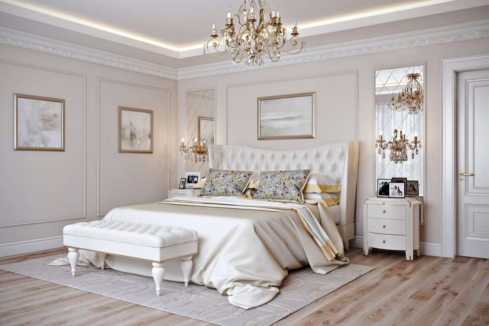 Кровать занимает центральное место