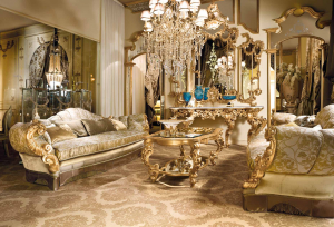 Золотой цвет в интерьере — Элегантный дизайн среди изыска и роскоши (205+ Фото кухни, спальни, гостиной)